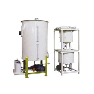 Weighing liquid adding system